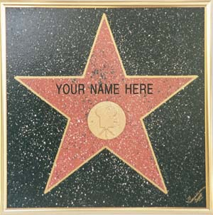 Your Name Here Hollywoond Star