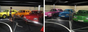 Colored cars